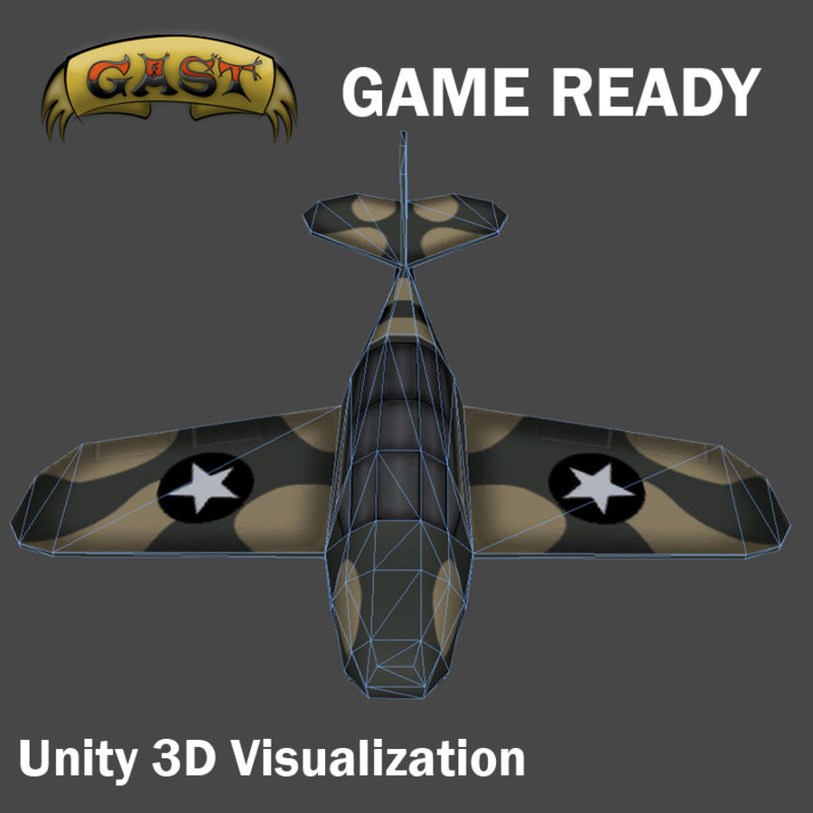 Avion de combat royalty-free 3d model - Preview no. 3