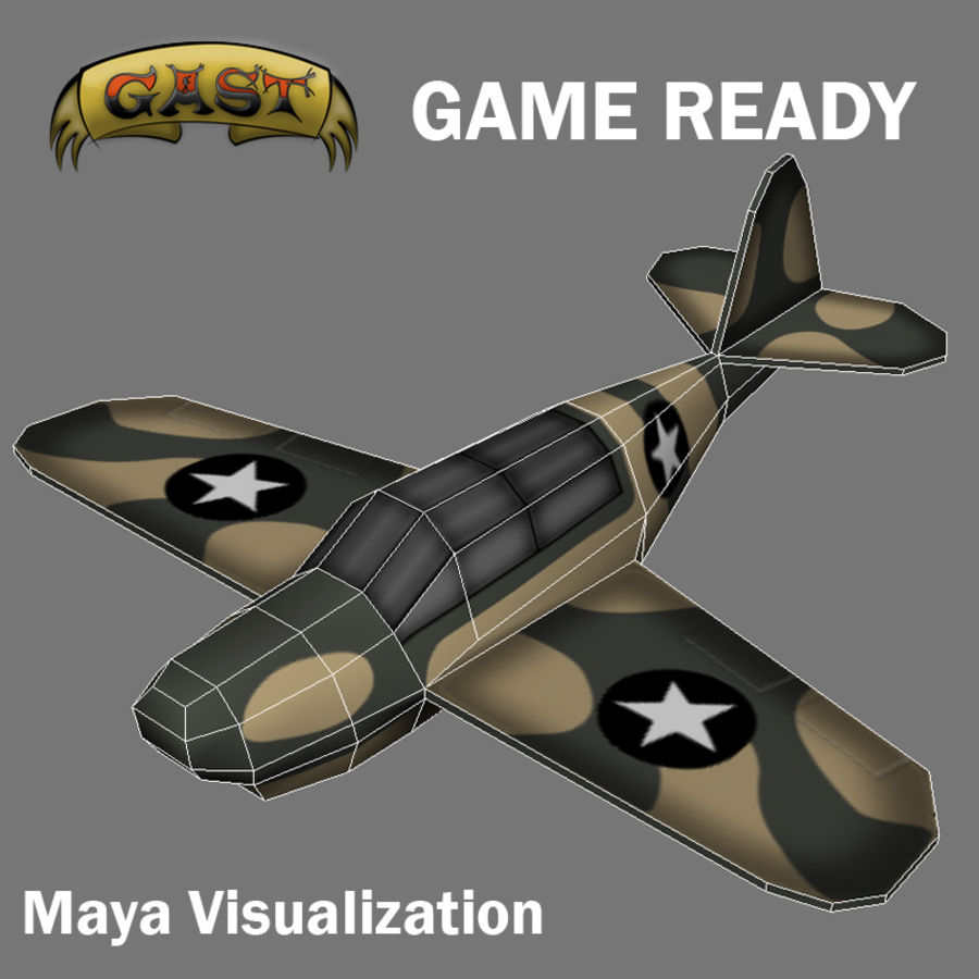 Avion de combat royalty-free 3d model - Preview no. 9