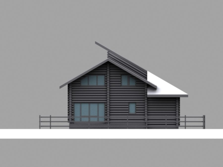 Mountain Chalet royalty-free 3d model - Preview no. 5