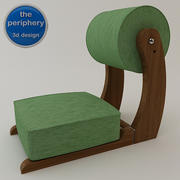 Tragbarer Meditationsstuhl 3d model