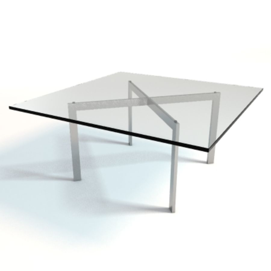 Mies Van Der Rohe Barcelona Table Royalty Free 3d Model   Preview No. 1