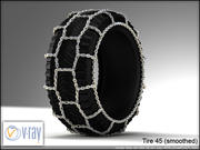 tire 45 (with chain 2) 3d model