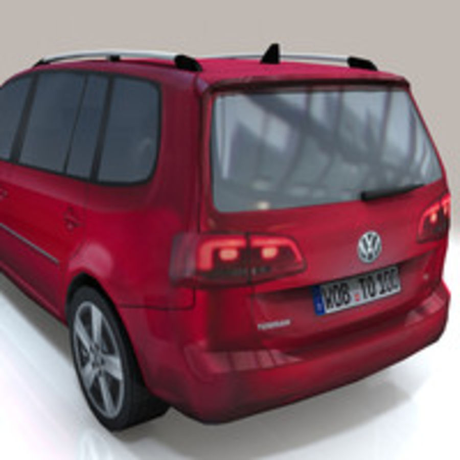Volkswagen Touran Car royalty-free 3d model - Preview no. 6