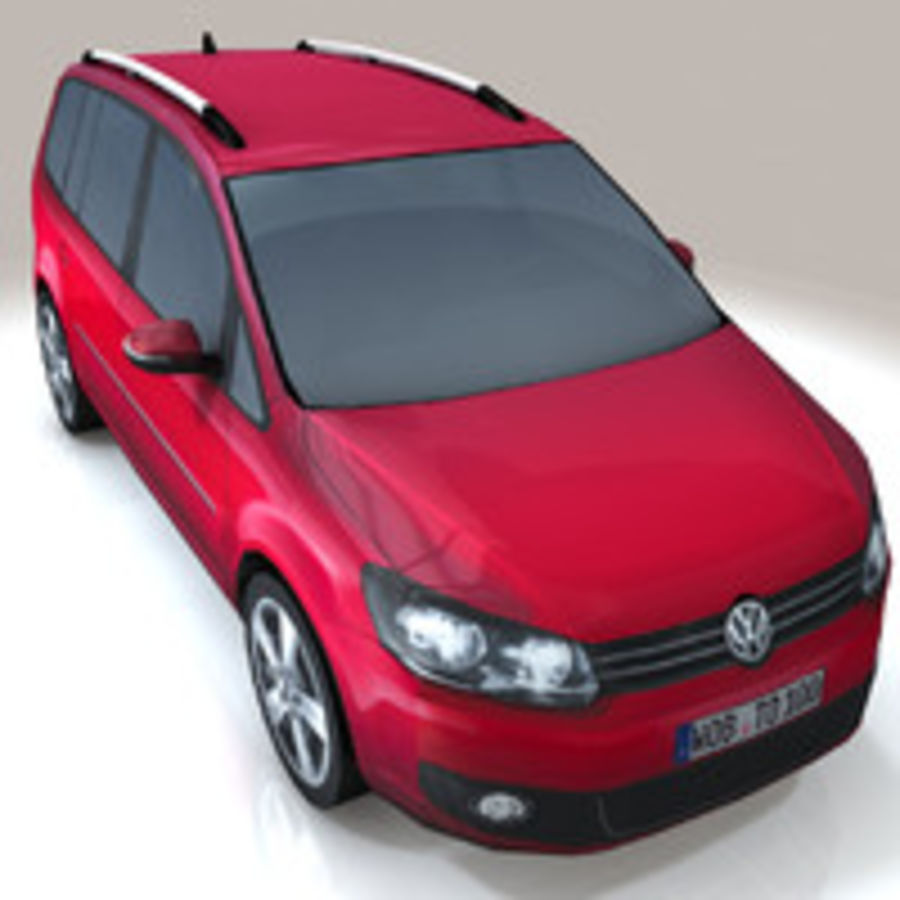 Volkswagen Touran Car royalty-free 3d model - Preview no. 4