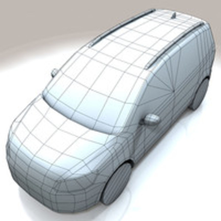 Volkswagen Touran Car royalty-free 3d model - Preview no. 11