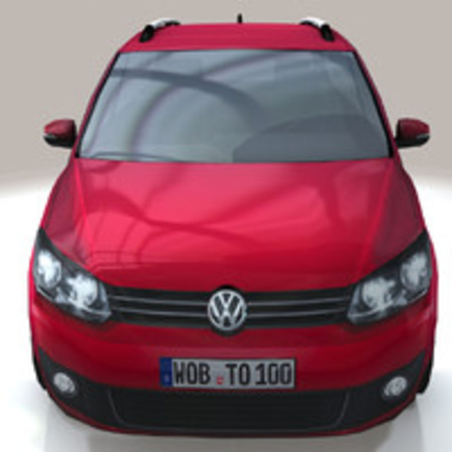 Volkswagen Touran Car royalty-free 3d model - Preview no. 10