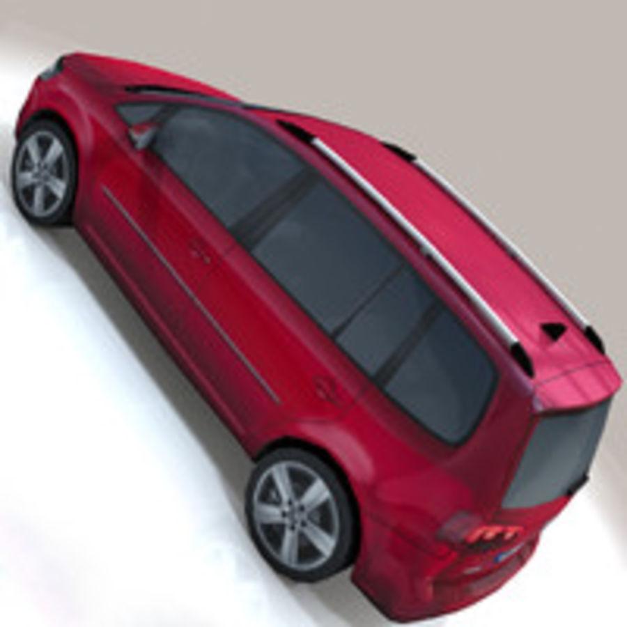 Volkswagen Touran Car royalty-free 3d model - Preview no. 7