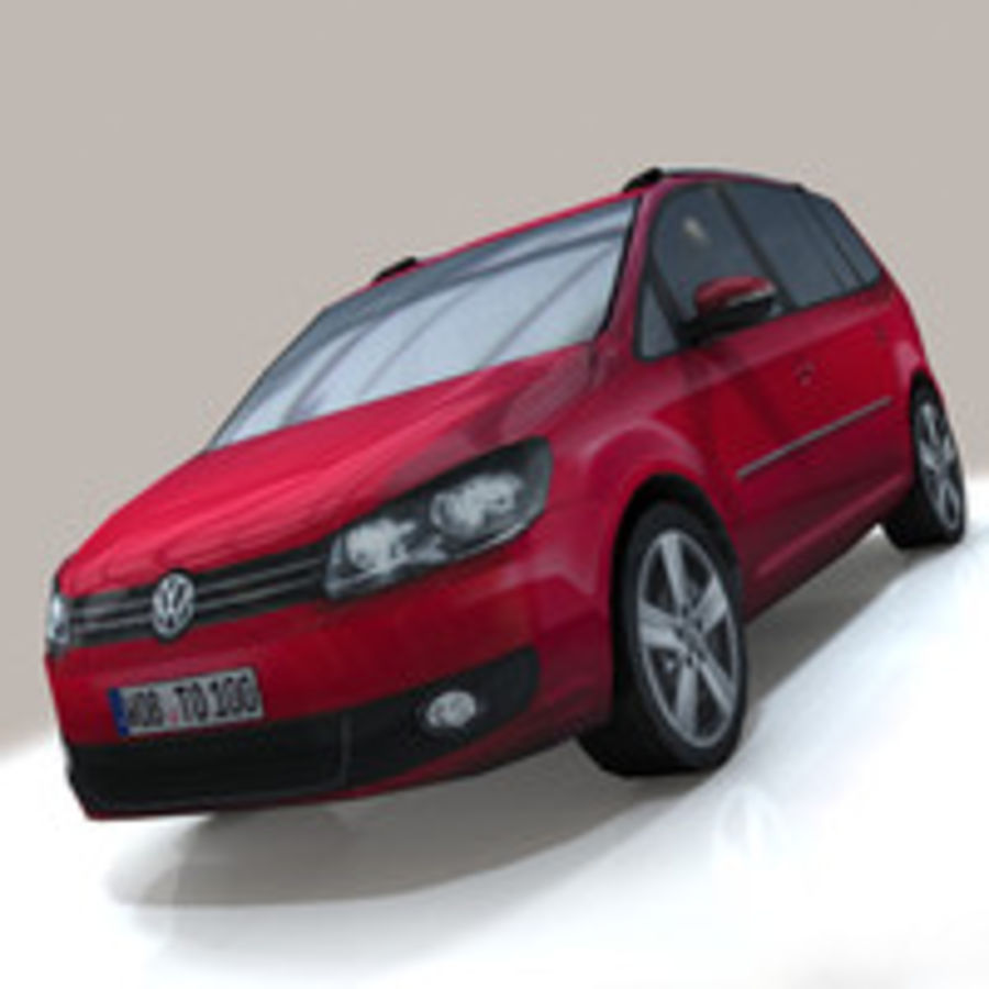 Volkswagen Touran Car royalty-free 3d model - Preview no. 5