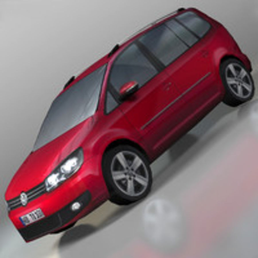 Volkswagen Touran Car royalty-free 3d model - Preview no. 1