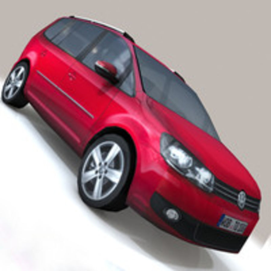 Volkswagen Touran Car royalty-free 3d model - Preview no. 8