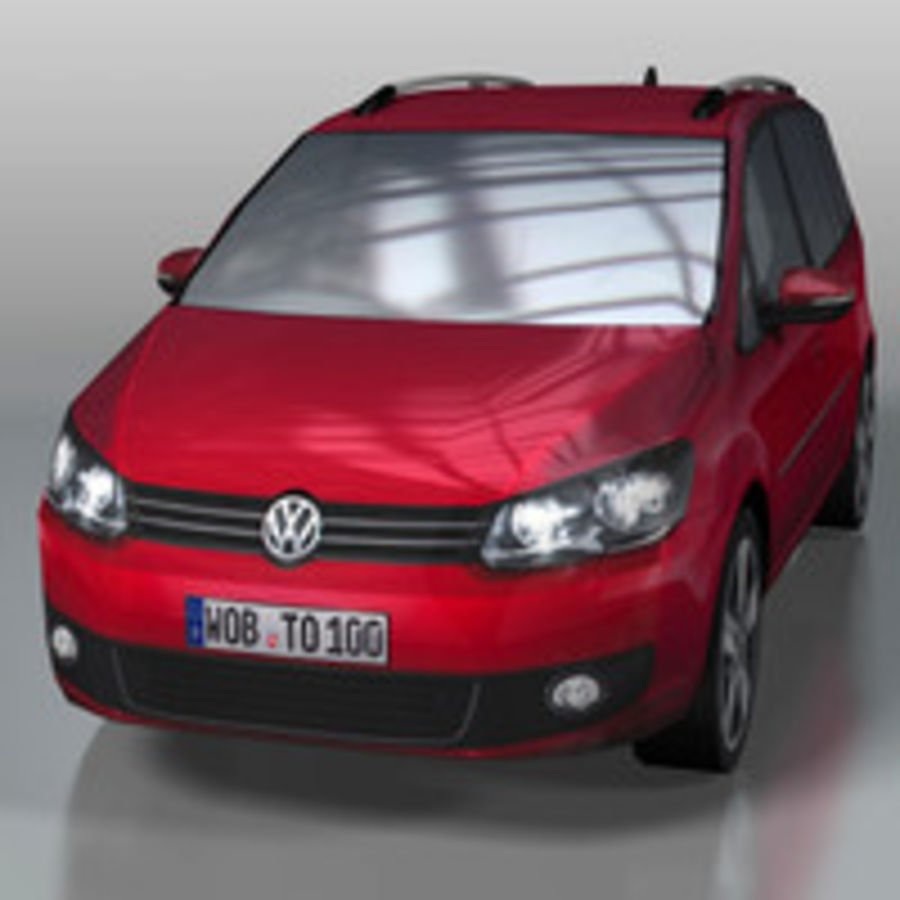 Volkswagen Touran Car royalty-free 3d model - Preview no. 2