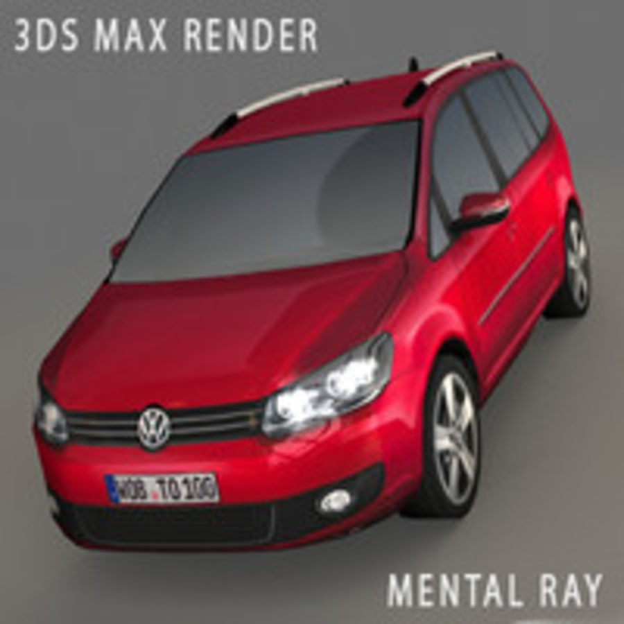 Volkswagen Touran Car royalty-free 3d model - Preview no. 12