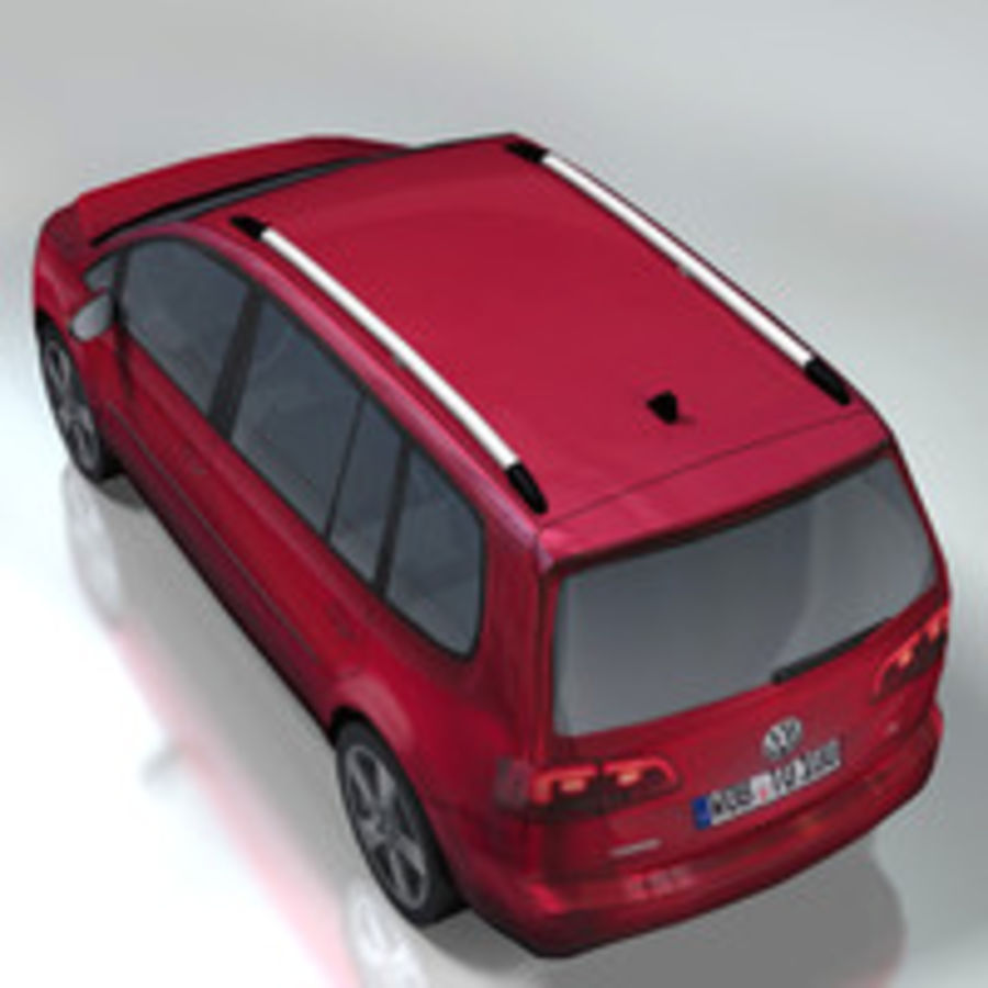 Volkswagen Touran Car royalty-free 3d model - Preview no. 3