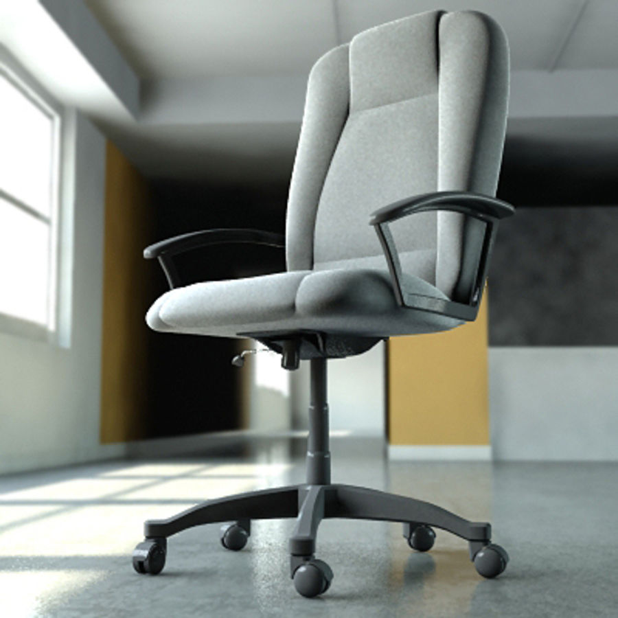 Chaise de bureau royalty-free 3d model - Preview no. 1