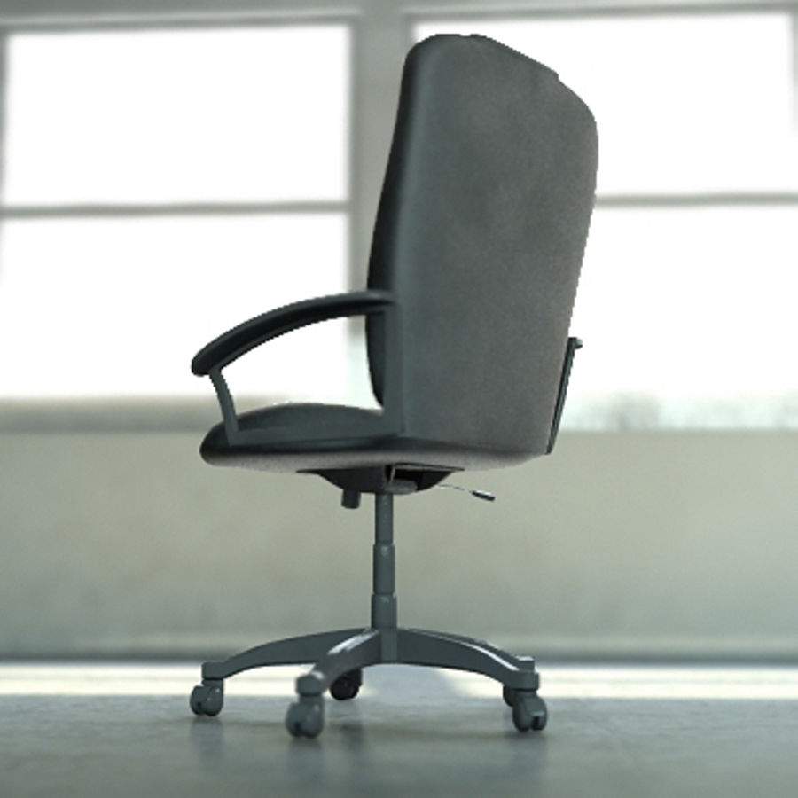 Chaise de bureau royalty-free 3d model - Preview no. 2