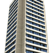 Low poly high rise building 4 3d model