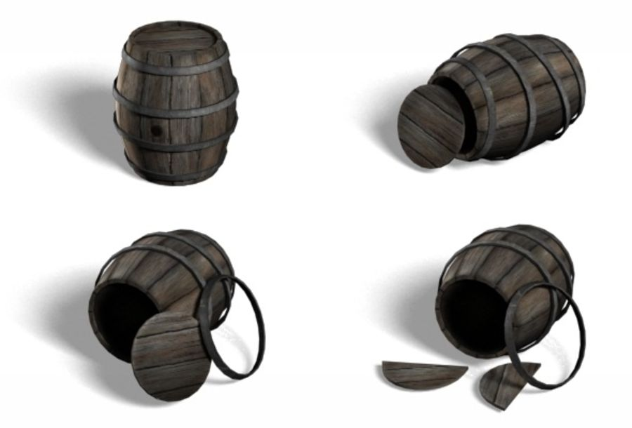 Barrel Collection royalty-free 3d model - Preview no. 1