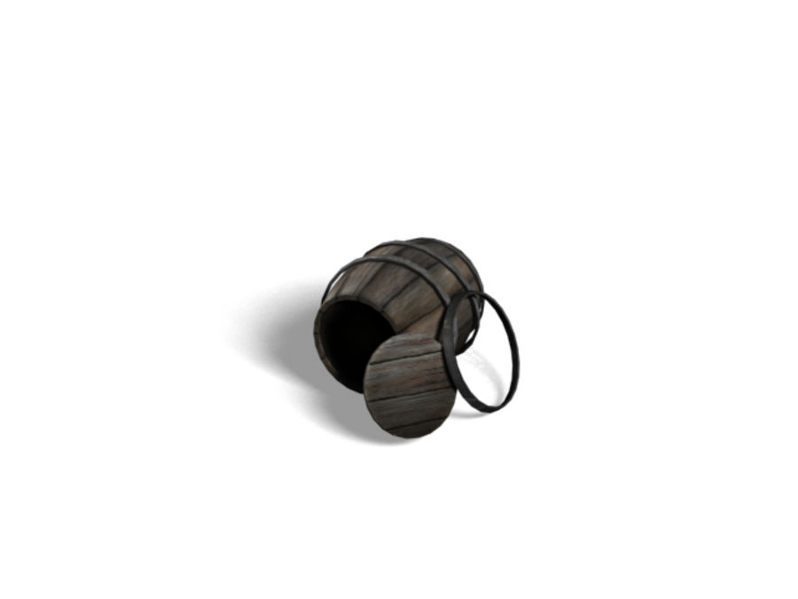 Barrel Collection royalty-free 3d model - Preview no. 10