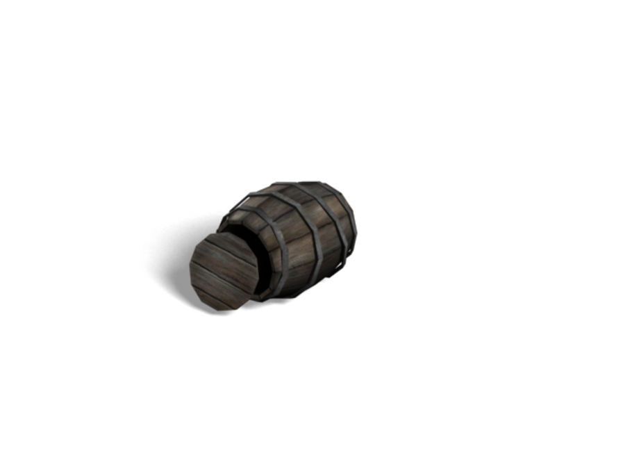 Barrel Collection royalty-free 3d model - Preview no. 8