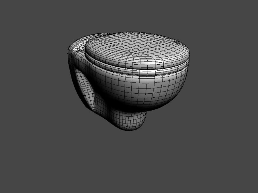 Lavatory seat royalty-free 3d model - Preview no. 3