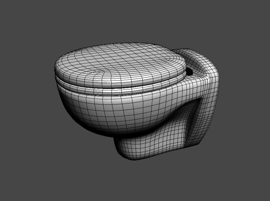 Lavatory seat royalty-free 3d model - Preview no. 4