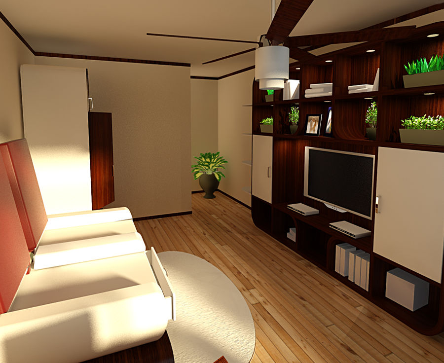 Interior royalty-free 3d model - Preview no. 2