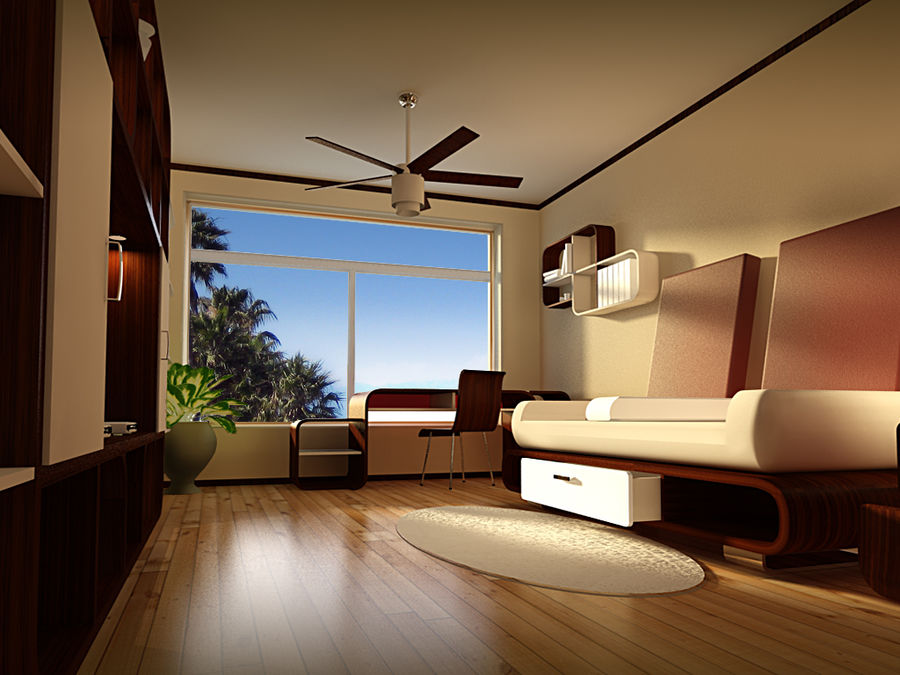 Intérieur royalty-free 3d model - Preview no. 1