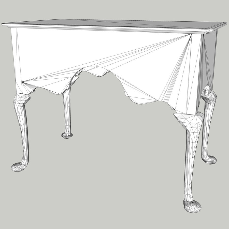 Queen Anne Lowboy royalty-free 3d model - Preview no. 9