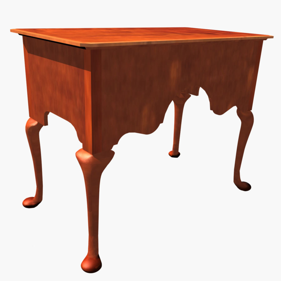 Queen Anne Lowboy royalty-free 3d model - Preview no. 4