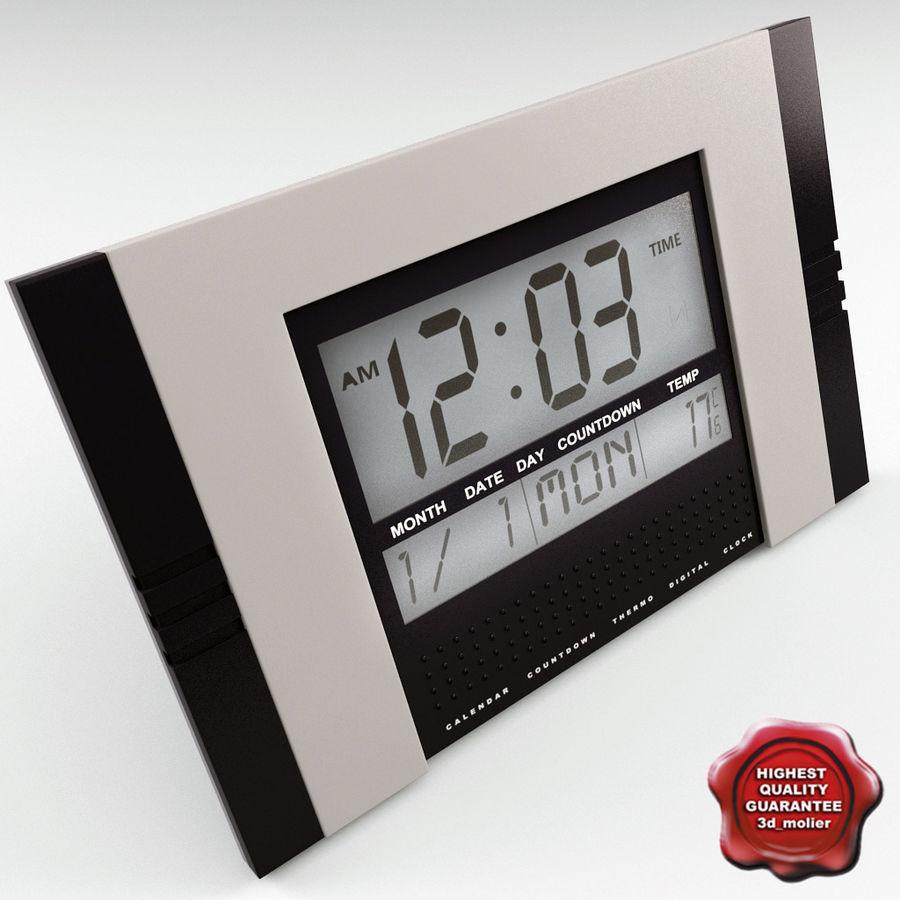 Horloge Numérique V2 Royalty Free 3d Model   Preview No. 1