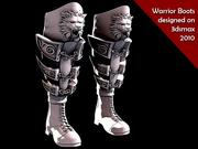 Bottes de guerrier 3d model