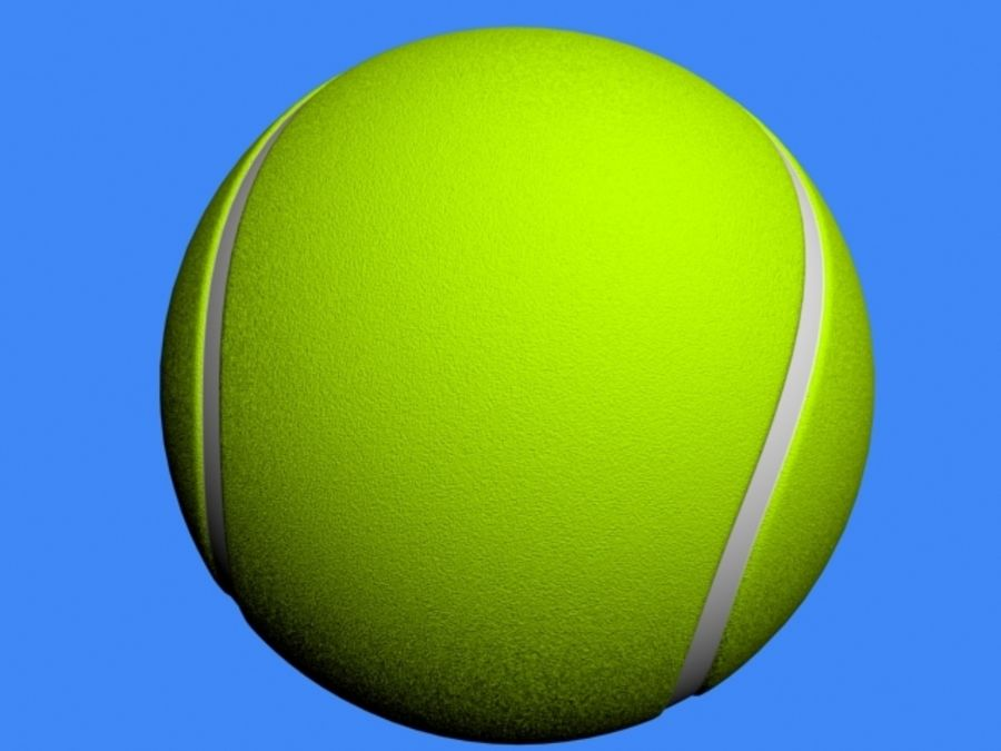 Tennis Ball royalty-free 3d model - Preview no. 2