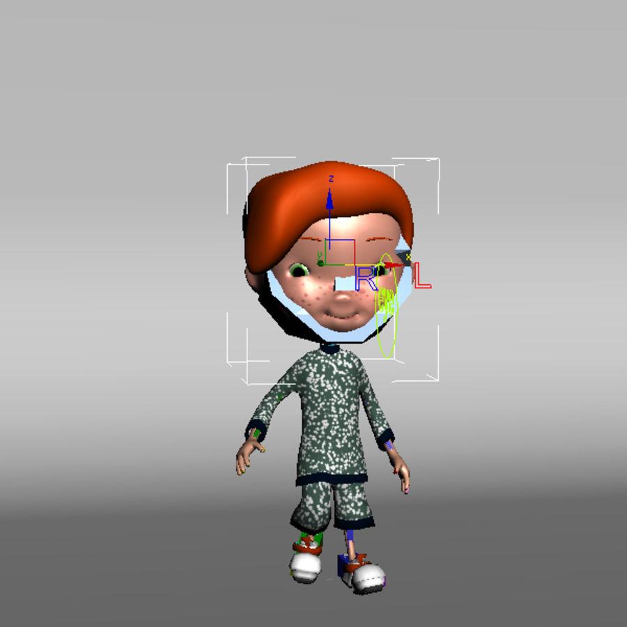 Cartoon boy Jeremiah royalty-free 3d model - Preview no. 8
