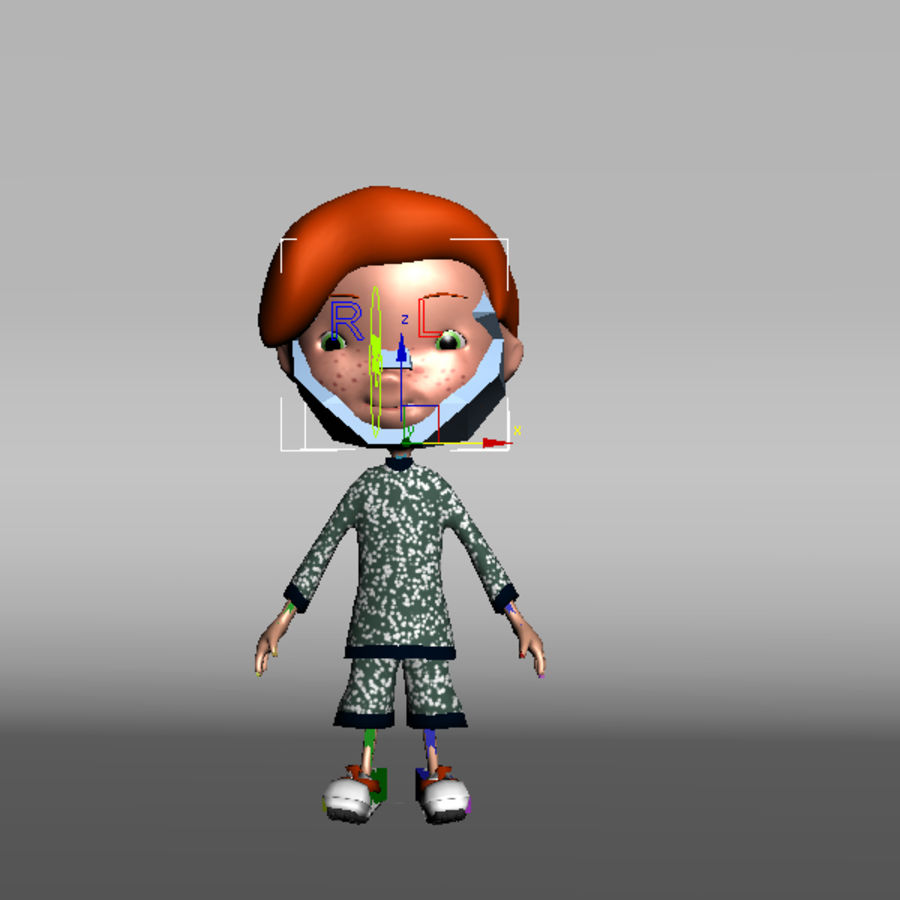 Cartoon boy Jeremiah royalty-free 3d model - Preview no. 9