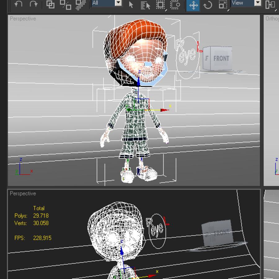 Cartoon boy Jeremiah royalty-free 3d model - Preview no. 5