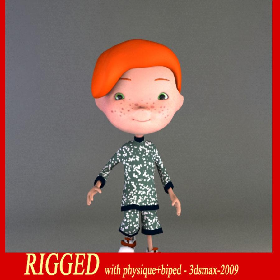 Cartoon boy Jeremiah royalty-free 3d model - Preview no. 1