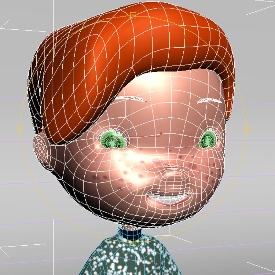 Cartoon boy Jeremiah royalty-free 3d model - Preview no. 6