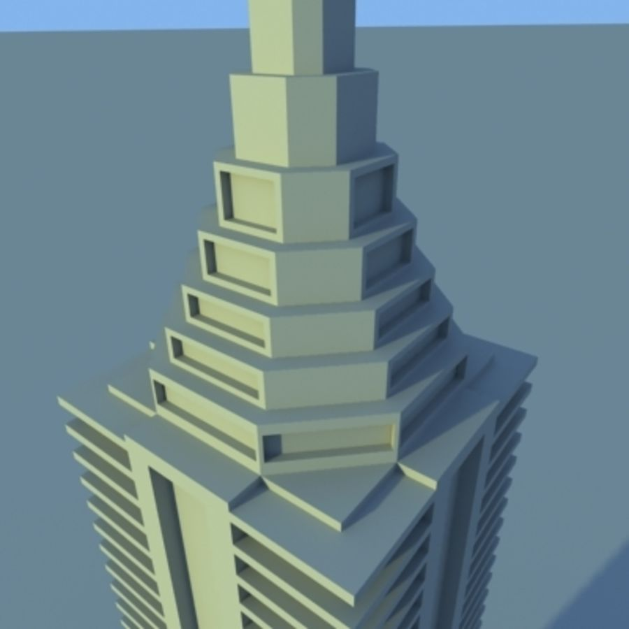 Wolkenkratzer 2 royalty-free 3d model - Preview no. 14