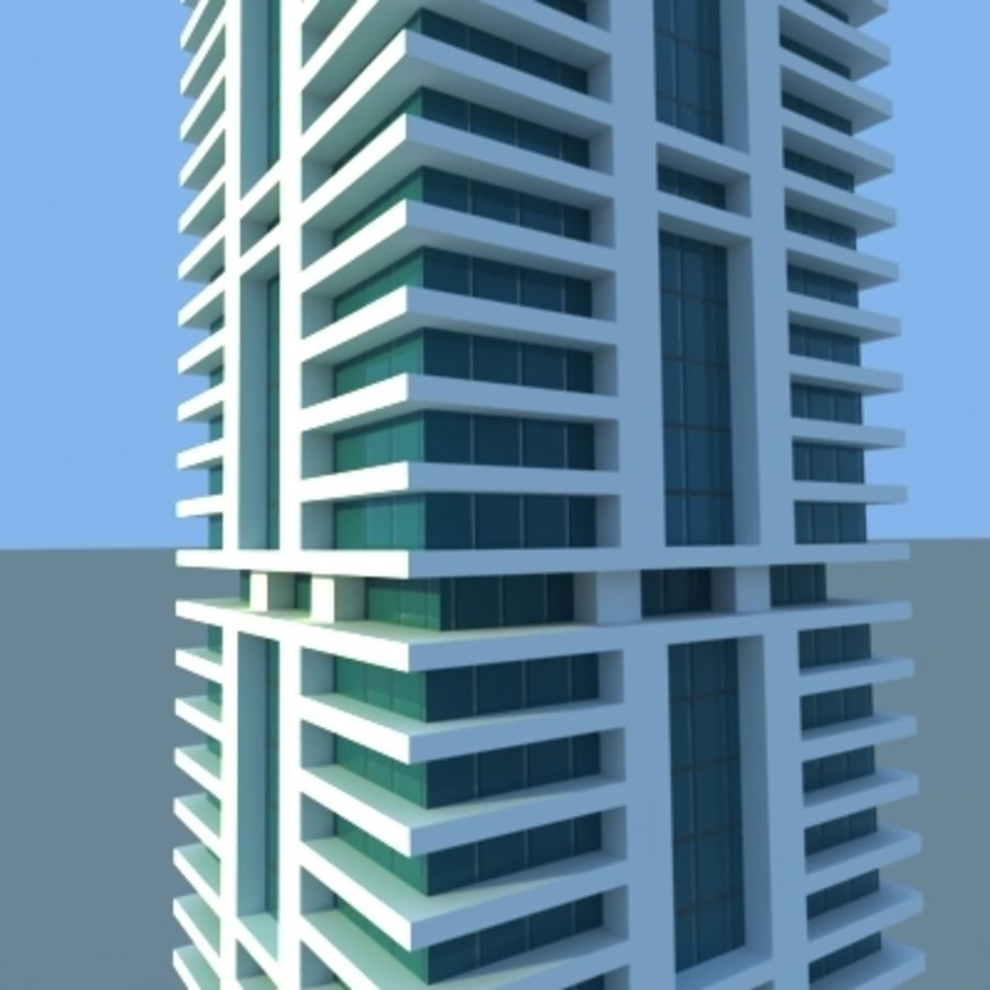 Wolkenkratzer 2 royalty-free 3d model - Preview no. 11