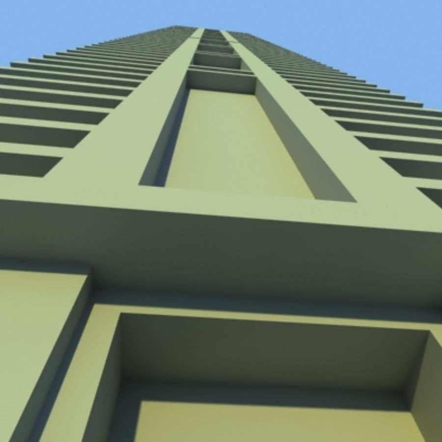 Wolkenkratzer 2 royalty-free 3d model - Preview no. 8