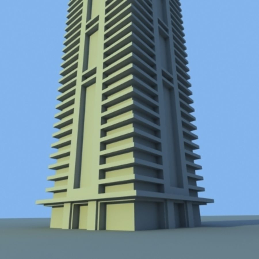 Wolkenkratzer 2 royalty-free 3d model - Preview no. 10