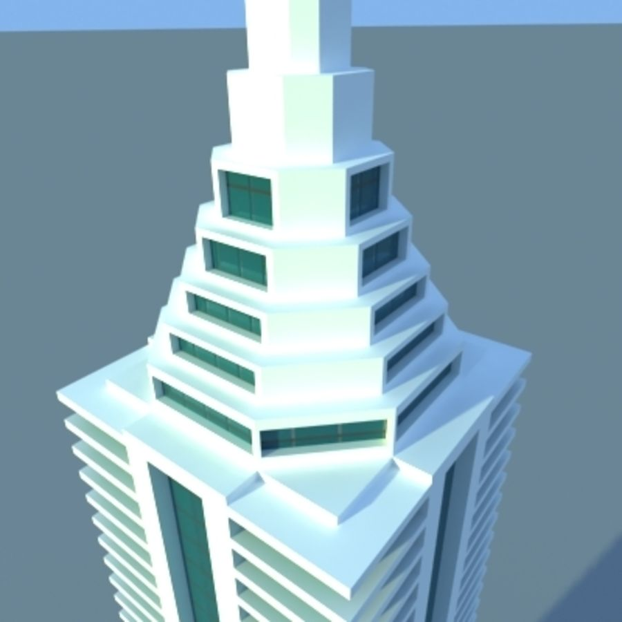 Wolkenkratzer 2 royalty-free 3d model - Preview no. 13