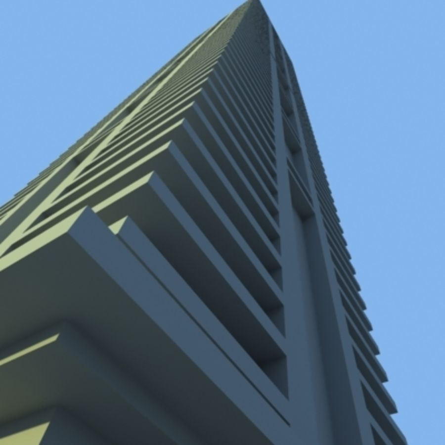 Wolkenkratzer 2 royalty-free 3d model - Preview no. 6