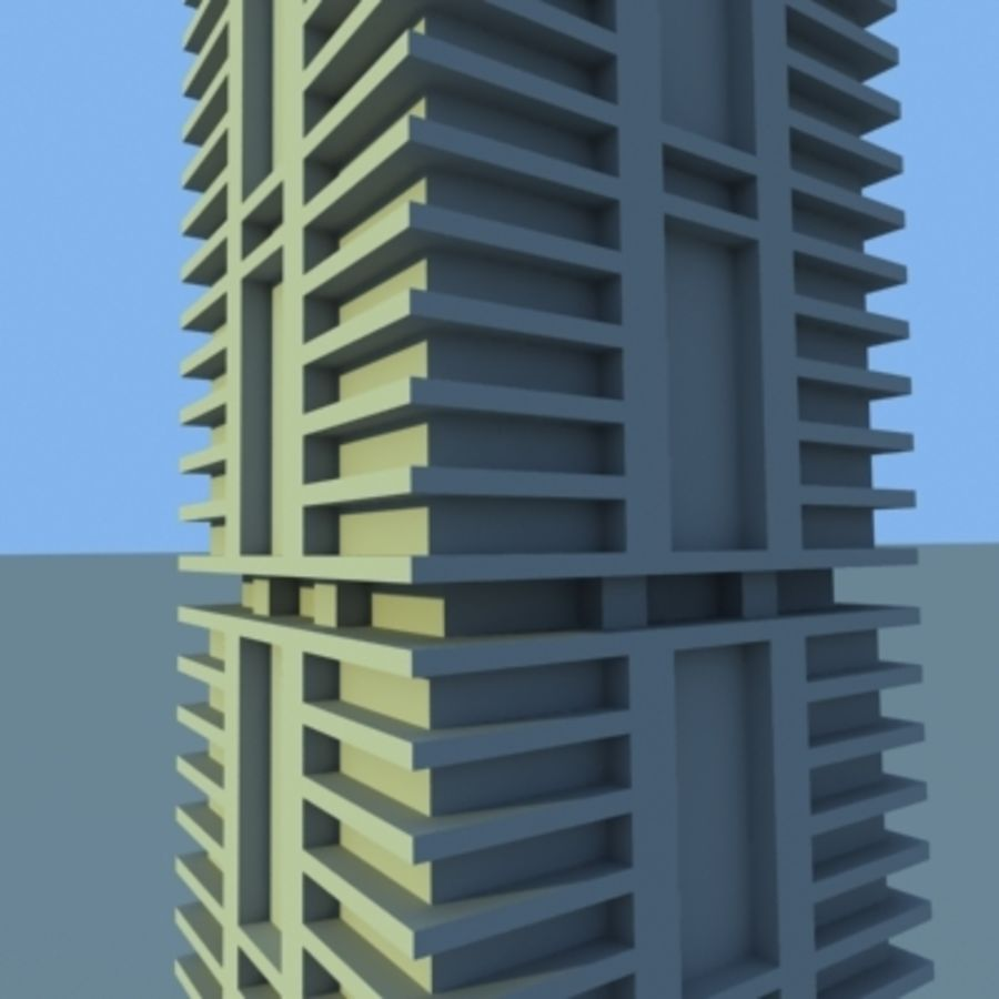 Wolkenkratzer 2 royalty-free 3d model - Preview no. 12
