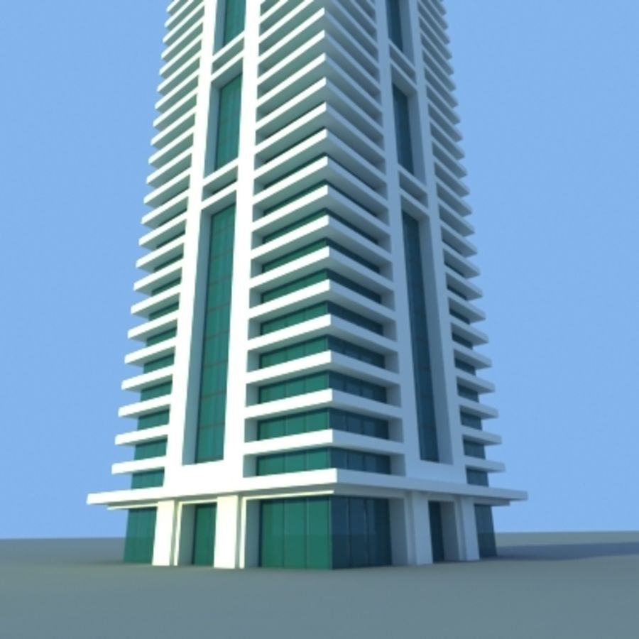 Wolkenkratzer 2 royalty-free 3d model - Preview no. 9