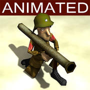 Bazooka_Cartoon_Soldier modelo 3d