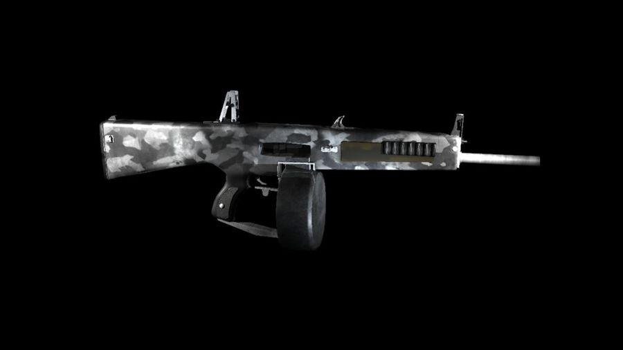 AA12 Shotgun royalty-free 3d model - Preview no. 9