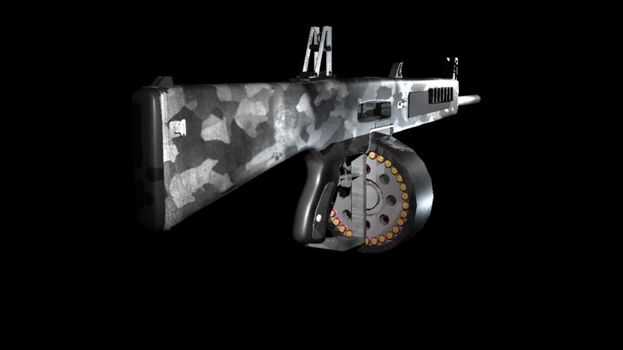 AA12 Shotgun royalty-free 3d model - Preview no. 5