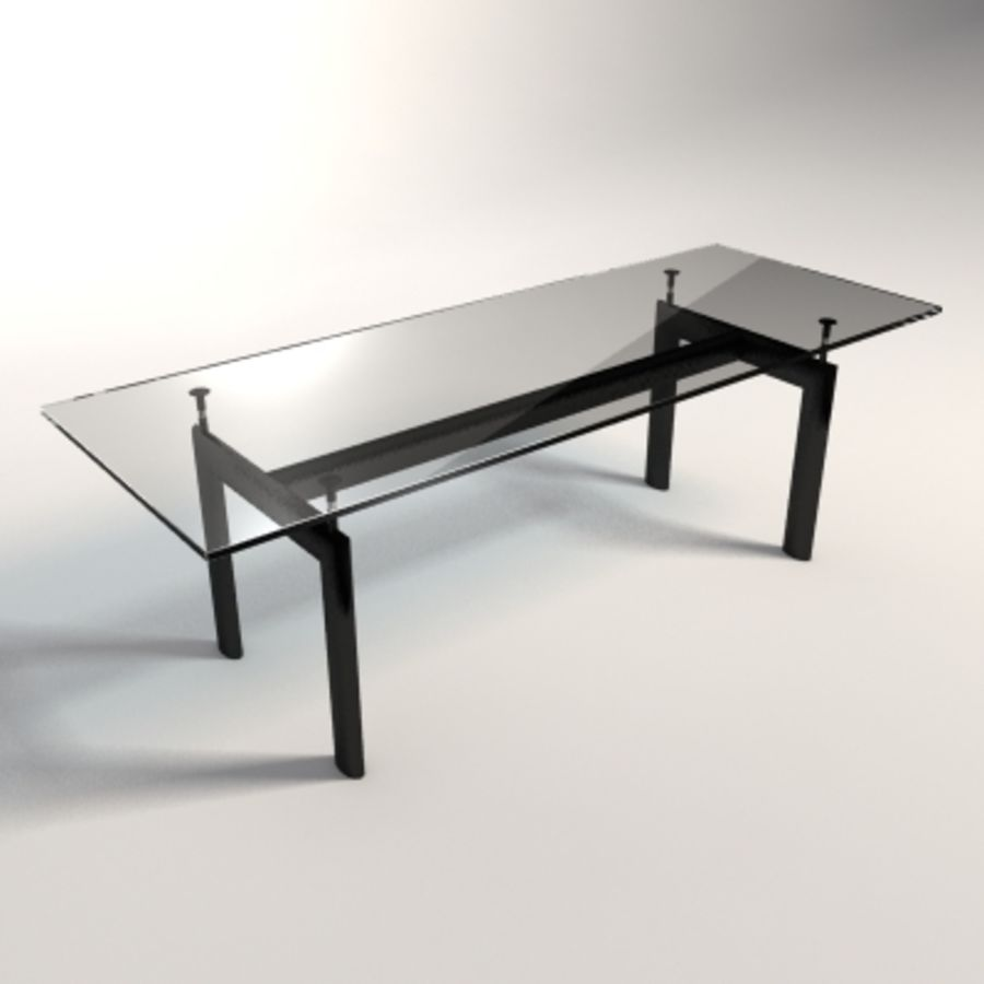 Le Corbusier LC6 Dining/Business Table Royalty Free 3d Model   Preview No.