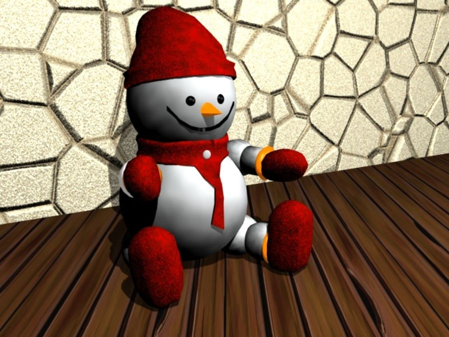 Xmas Snowman royalty-free 3d model - Preview no. 1